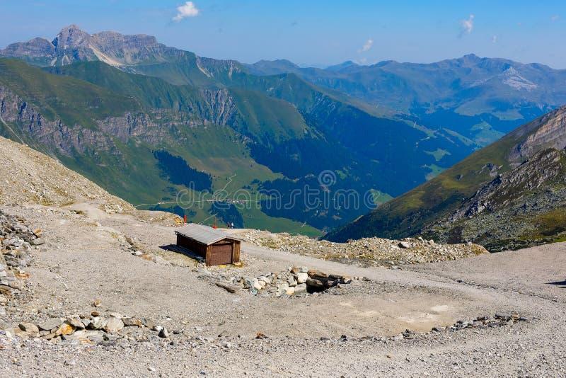 Paisagem da montanha e da geleira em Tirol Áustria, região de Hintertux foto de stock royalty free