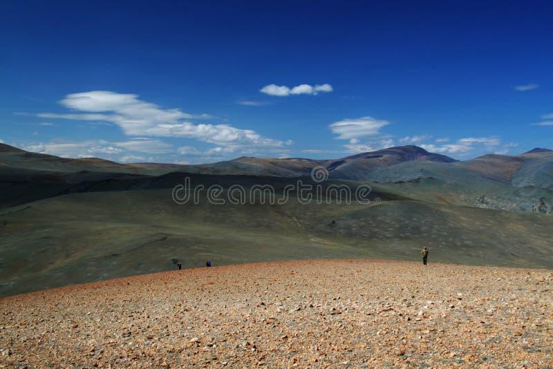 Paisagem da montanha em mongolia foto de stock