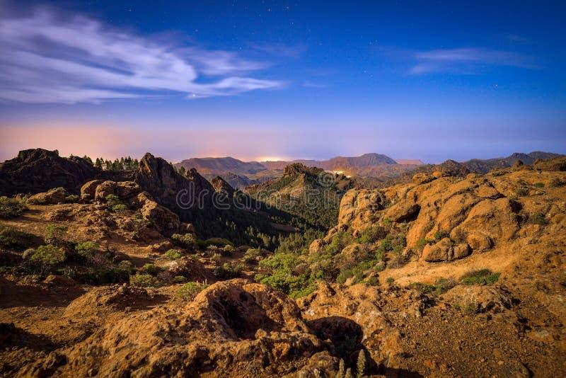 Paisagem da montanha na ilha de Gran Canaria, Espanha imagens de stock royalty free