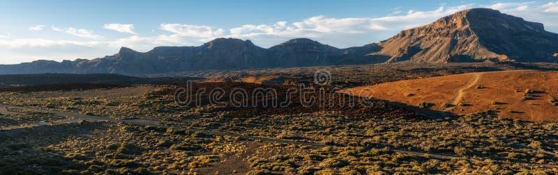 Paisagem da montanha, parque nacional de Teide, Tenerife fotos de stock royalty free