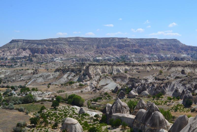 A paisagem da natureza da região de Cappadocia foto de stock