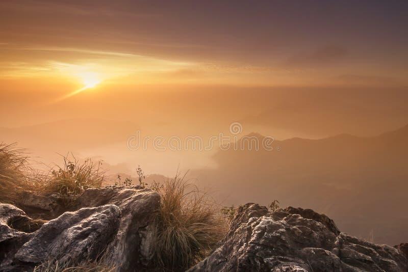 Paisagem da natureza do Mountain View imagem de stock