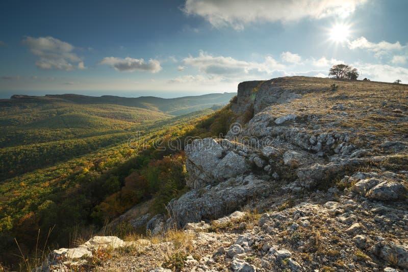 Paisagem da natureza do outono da montanha foto de stock royalty free