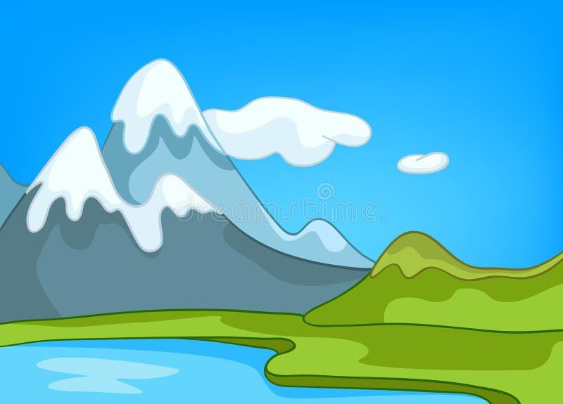 Paisagem da natureza dos desenhos animados ilustração do vetor