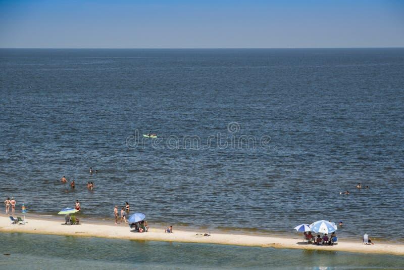Paisagem da praia de Atlantida em Canelones, Uruguai fotos de stock