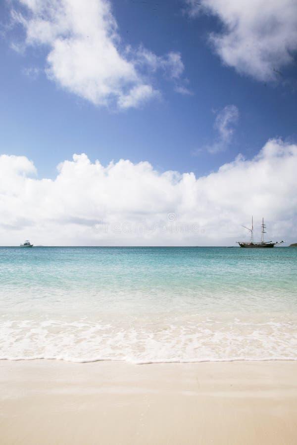 Paisagem da praia de Whitehaven imagens de stock
