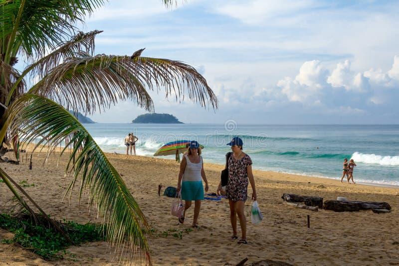 Paisagem da praia em Phuket foto de stock