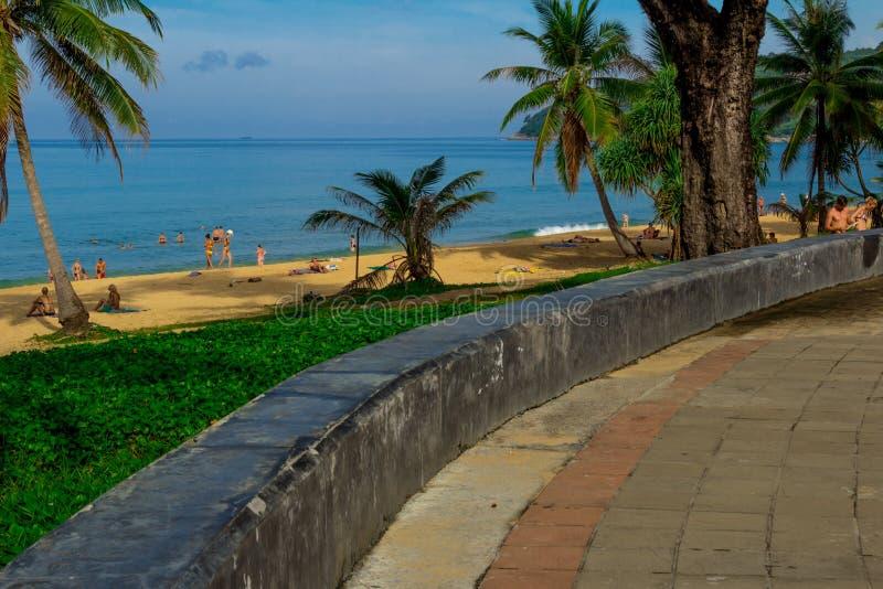 Paisagem da praia em Phuket fotografia de stock royalty free