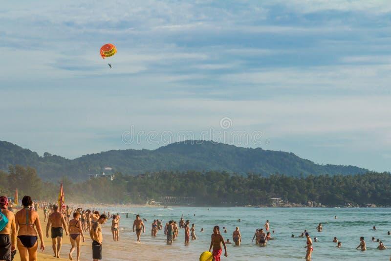 Paisagem da praia em Phuket fotos de stock