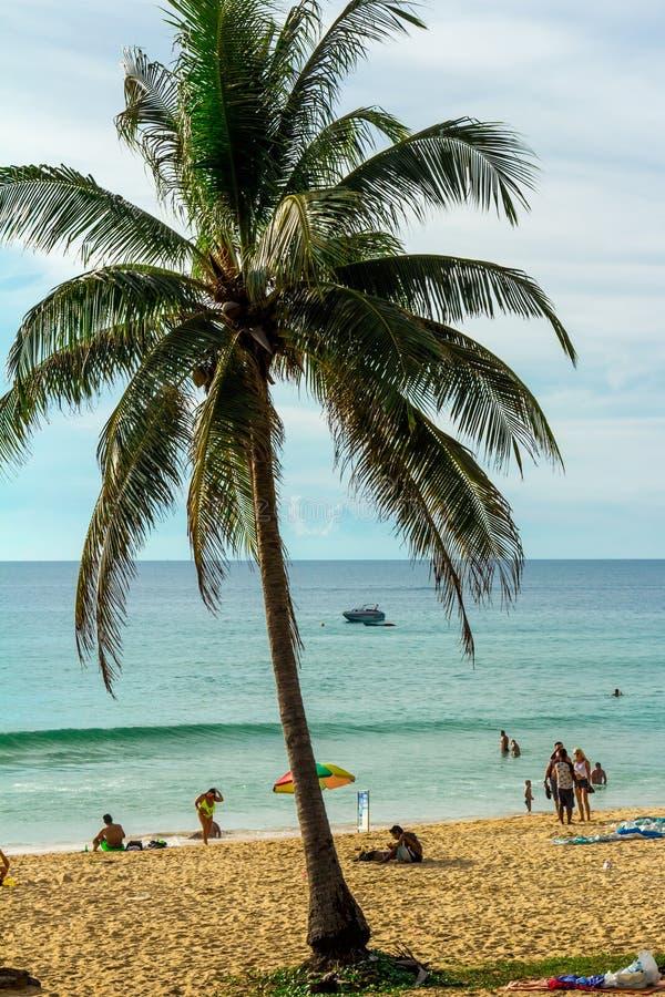 Paisagem da praia em Phuket fotos de stock royalty free