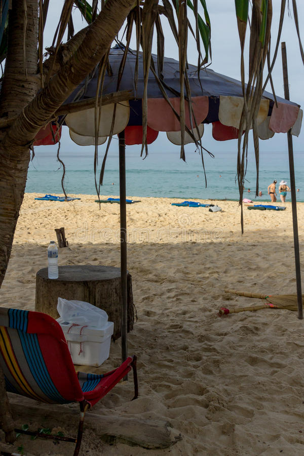 Paisagem da praia em Phuket fotografia de stock