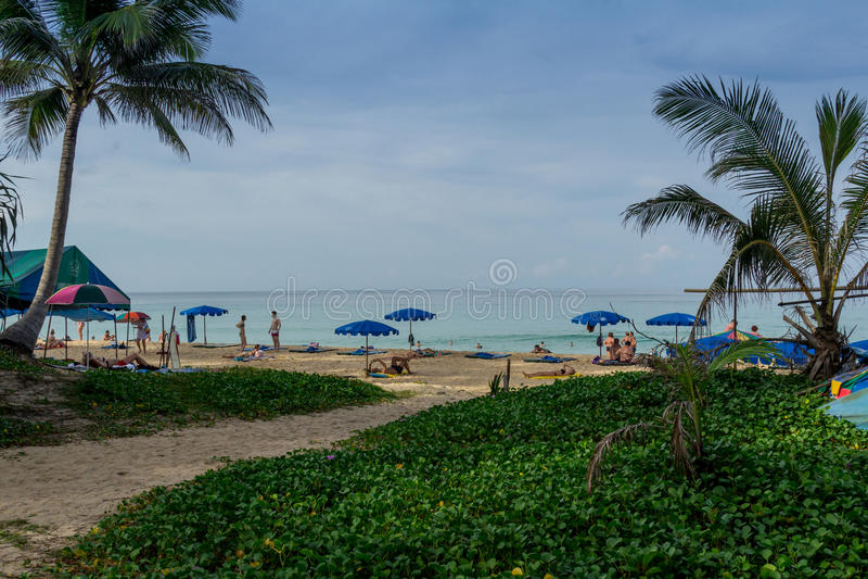Paisagem da praia em Phuket imagens de stock