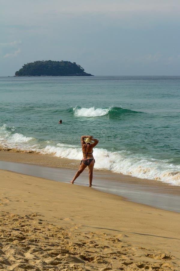 Paisagem da praia em Phuket imagem de stock