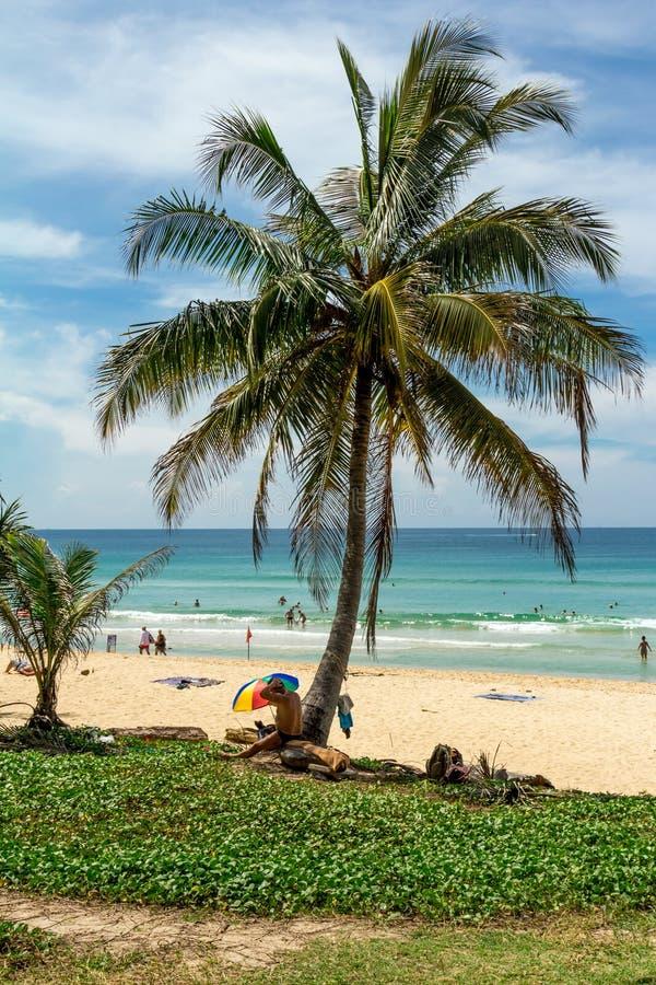 Paisagem da praia em Phuket foto de stock royalty free