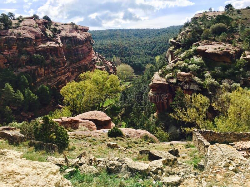 Paisagem da rocha avermelhada fotografia de stock