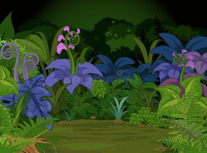 Paisagem da selva ilustração stock
