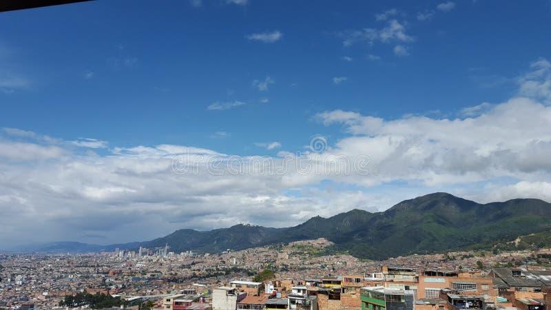 Paisagem da tarde de Bogotá imagens de stock
