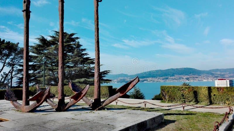 Paisagem da vista bonita em um parque fotografia de stock