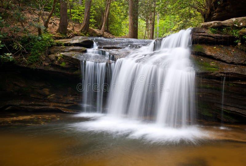 Paisagem das cachoeiras do SC do parque de estado da rocha da tabela foto de stock
