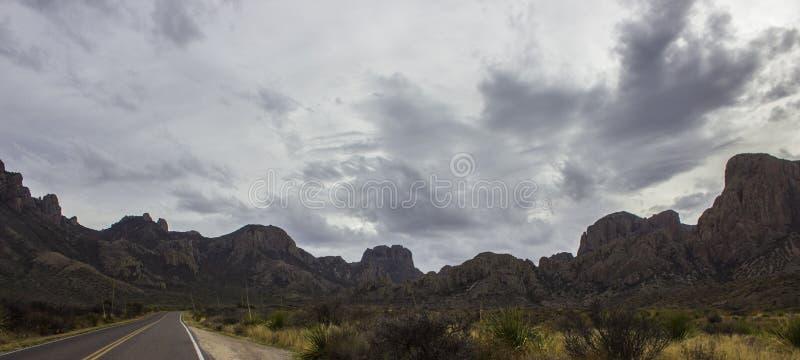 Paisagem das montanhas de Chisos imagem de stock