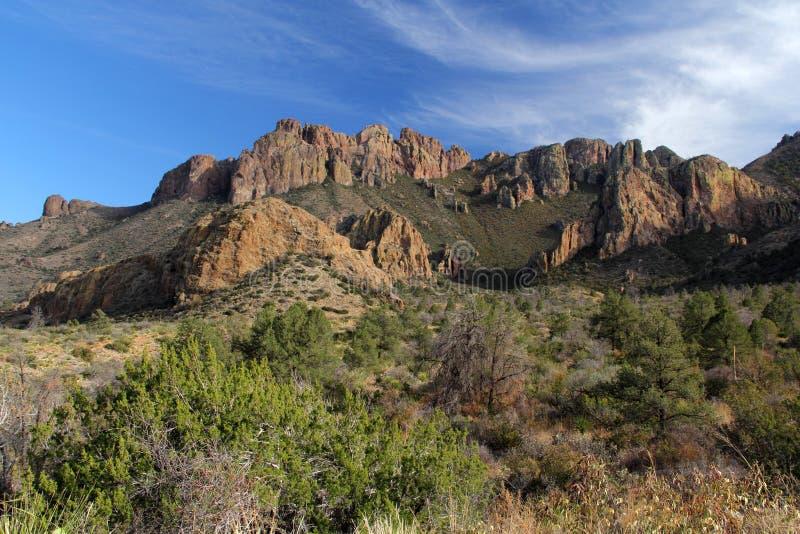 Paisagem das montanhas de Chisos imagem de stock royalty free