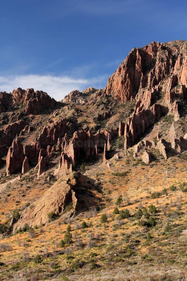 Paisagem das montanhas de Chisos fotografia de stock royalty free