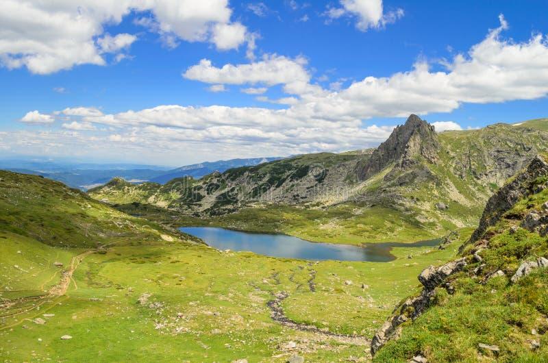 Paisagem das montanhas de Rila, Bulgária foto de stock