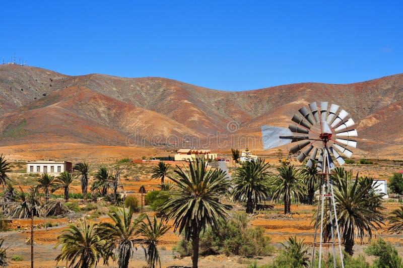 Paisagem de Antígua, Fuerteventura, Ilhas Canárias, Spain imagens de stock