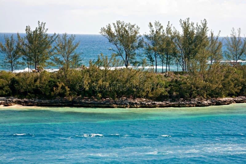 Paisagem de Bahama foto de stock