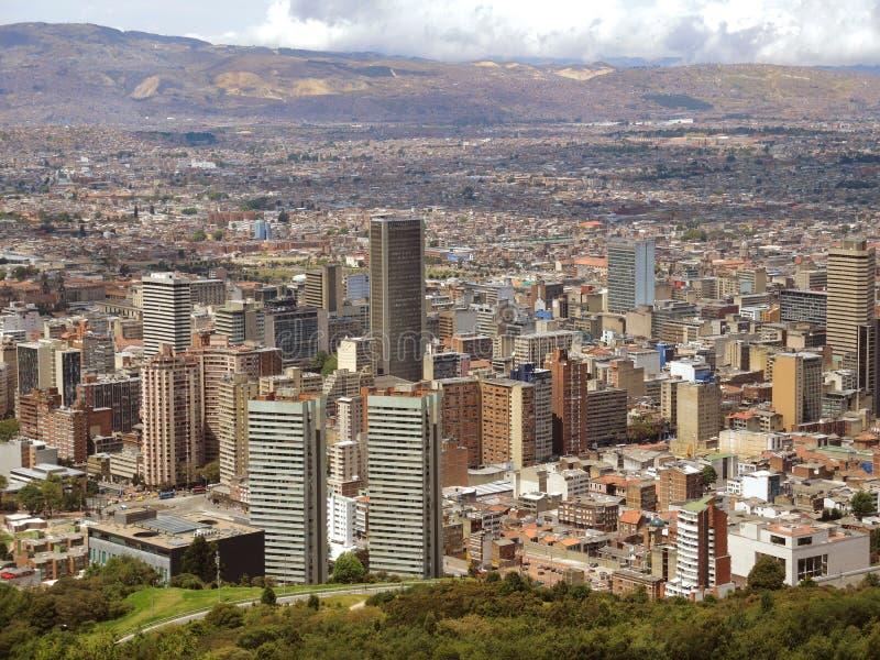 Paisagem de Bogotá, Colômbia. imagens de stock