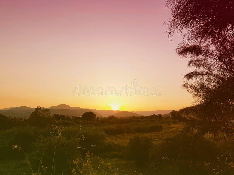 Paisagem de Calabria fotografia de stock
