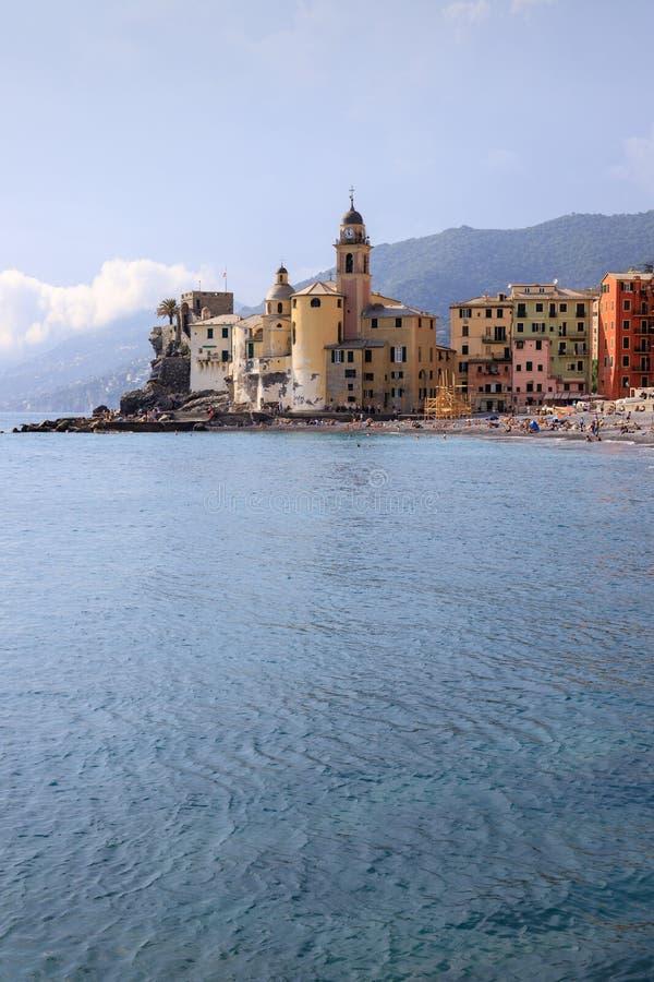 Paisagem de Camogli, Liguria imagens de stock royalty free
