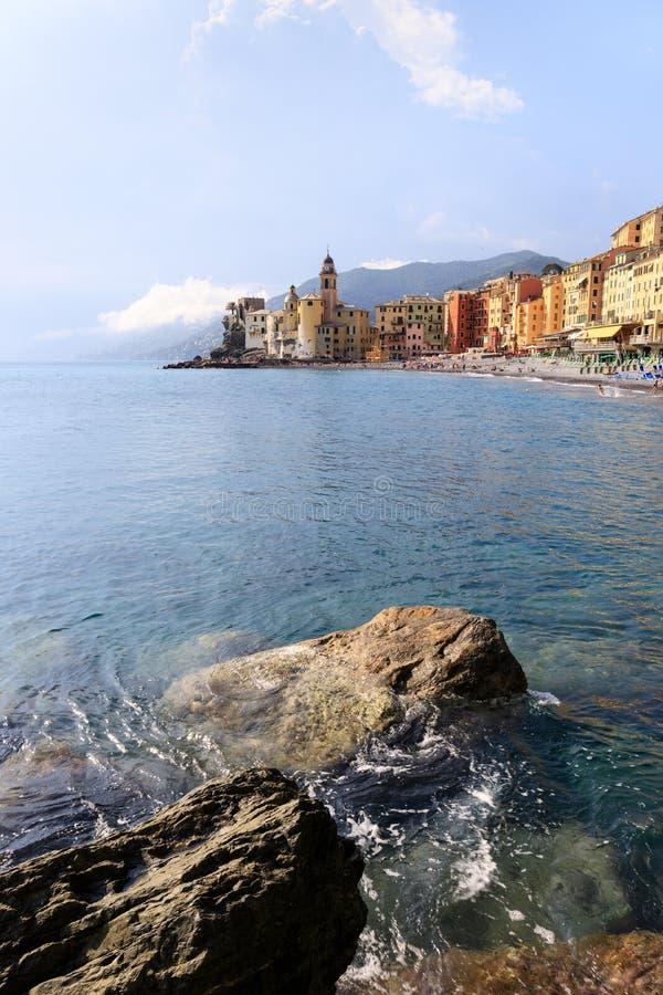 Paisagem de Camogli, Liguria imagem de stock royalty free