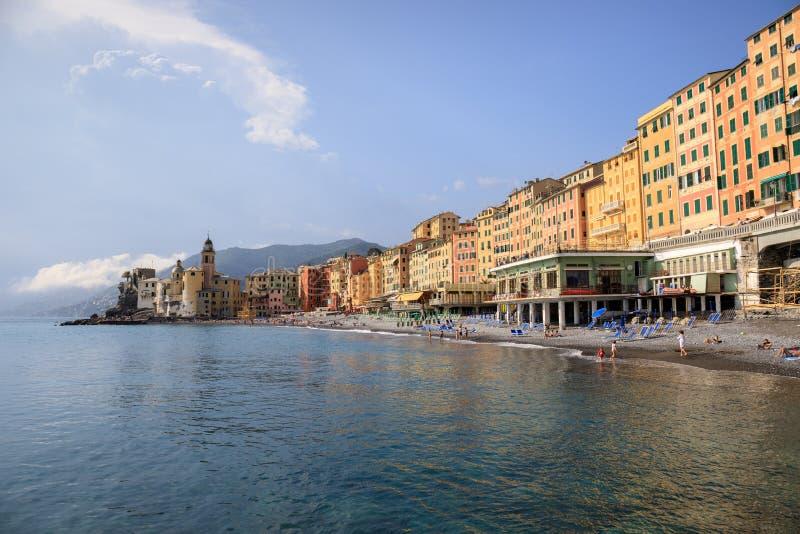 Paisagem de Camogli, Liguria fotos de stock