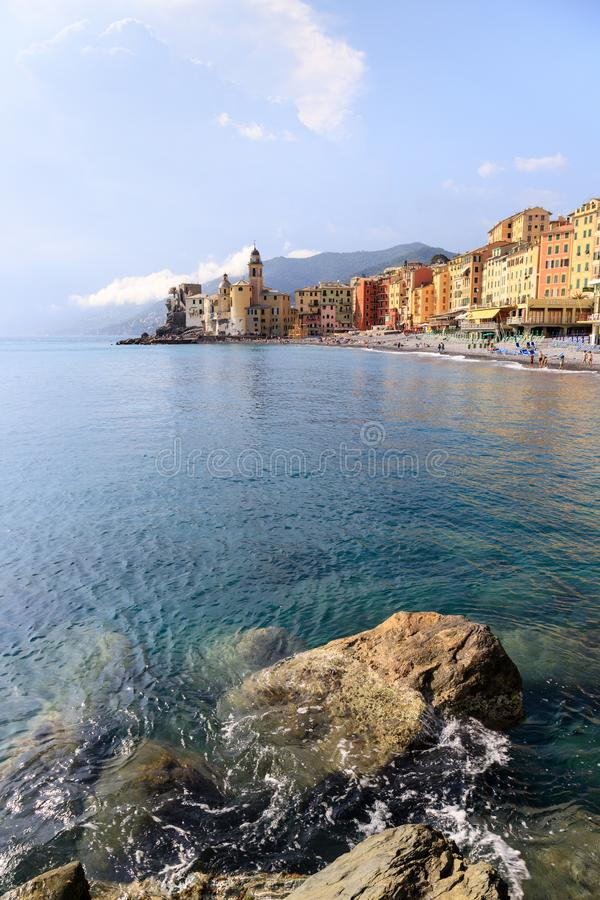 Paisagem de Camogli, Liguria imagem de stock