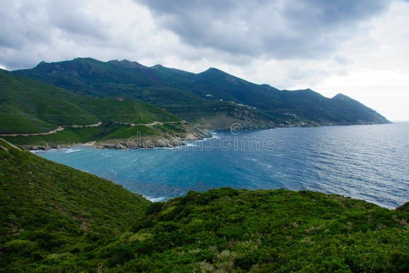 Paisagem de Cap Corse imagens de stock royalty free