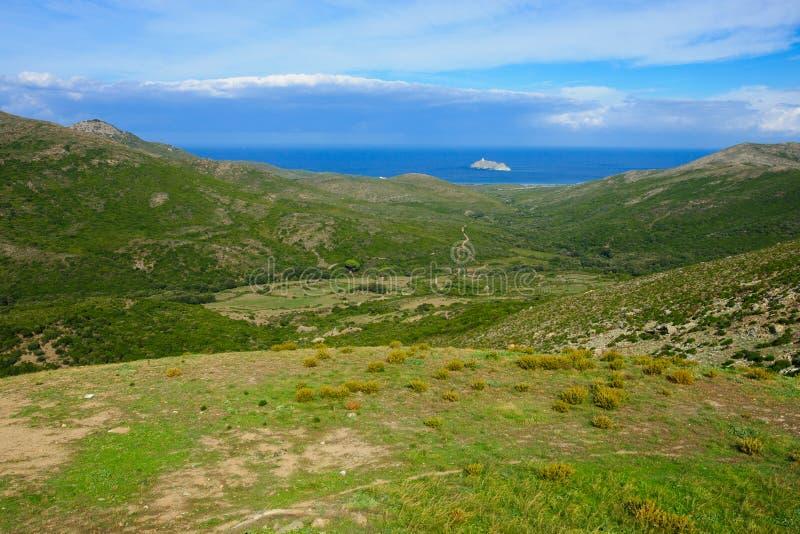 Paisagem de Cap Corse fotografia de stock royalty free