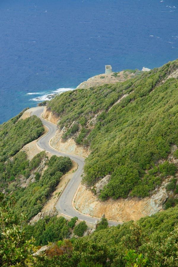 Paisagem de Cap Corse fotos de stock royalty free
