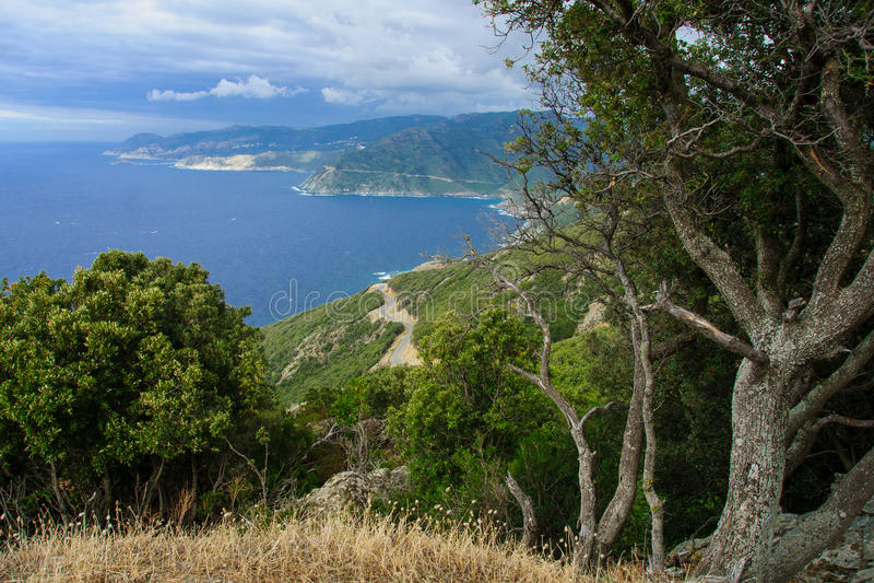 Paisagem de Cap Corse fotos de stock