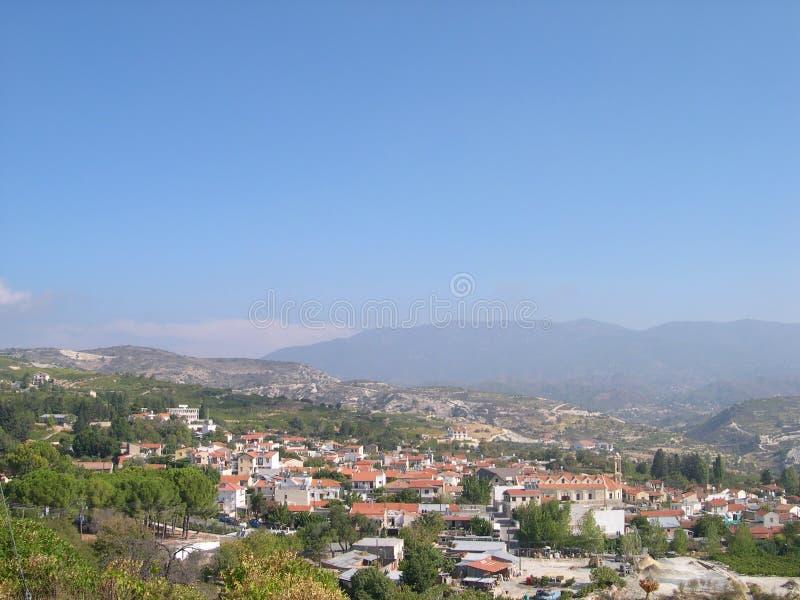 Paisagem de Chipre fotografia de stock