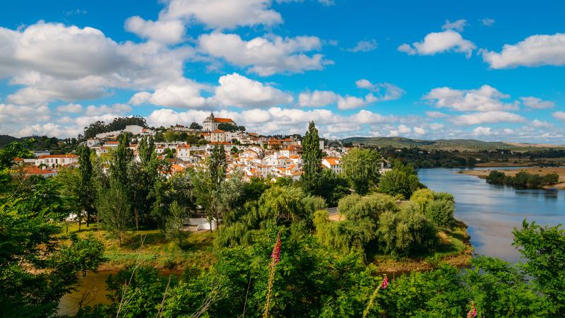 Paisagem de Constancia Santarem, Ribatejo, Portugal fotografia de stock