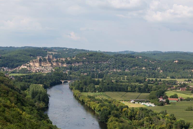 Paisagem de Dordogne imagens de stock