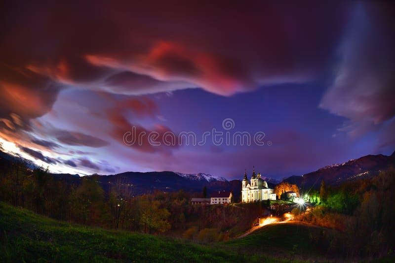 Paisagem de Eslovênia, natureza e cena bonitas do outono fotografia de stock royalty free