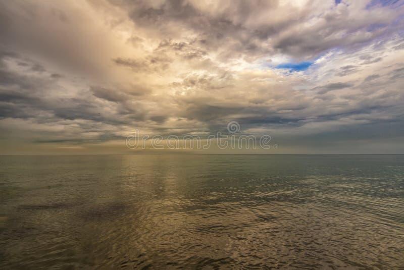Paisagem de excitação do mar foto de stock