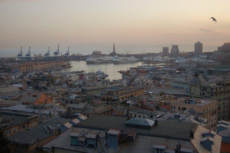 Paisagem de Genoa imagens de stock