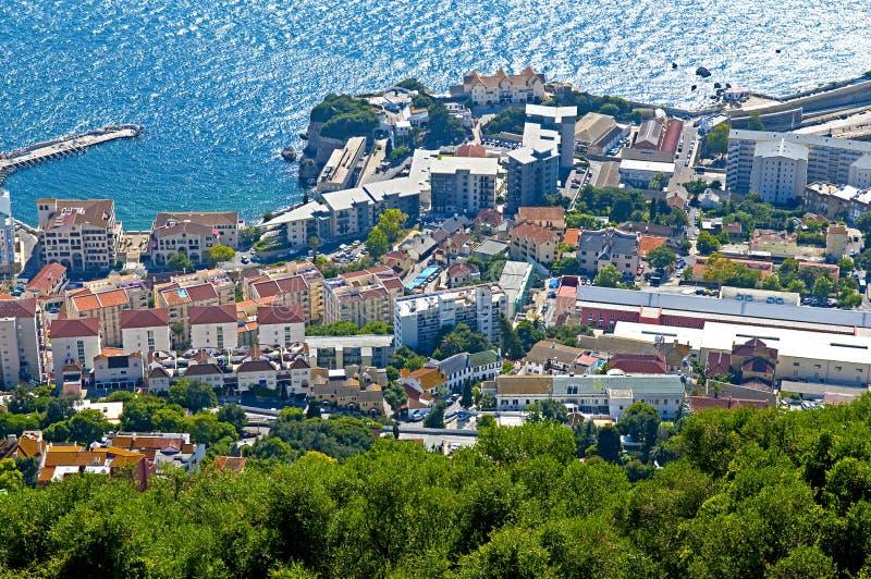 Paisagem de Gibraltar fotografia de stock