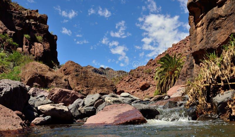 Paisagem de Gran canaria, Ilhas Canárias fotografia de stock royalty free