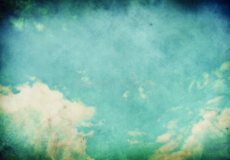 Paisagem de Grunge com nuvens fotografia de stock