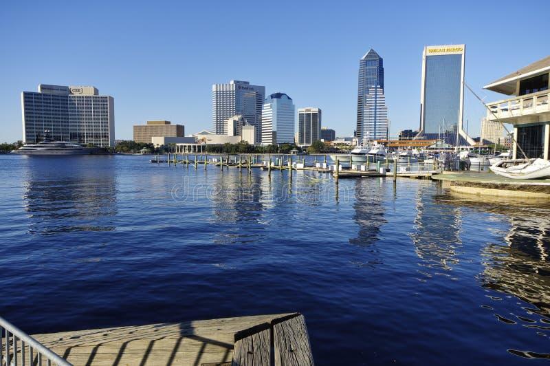 Paisagem de Jacksonville do centro em Florida, EUA imagens de stock royalty free