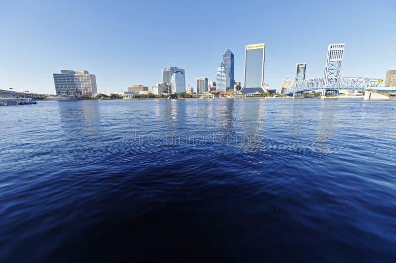 Paisagem de Jacksonville do centro em Florida, EUA foto de stock